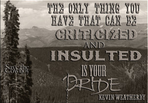 pride is easily insulted